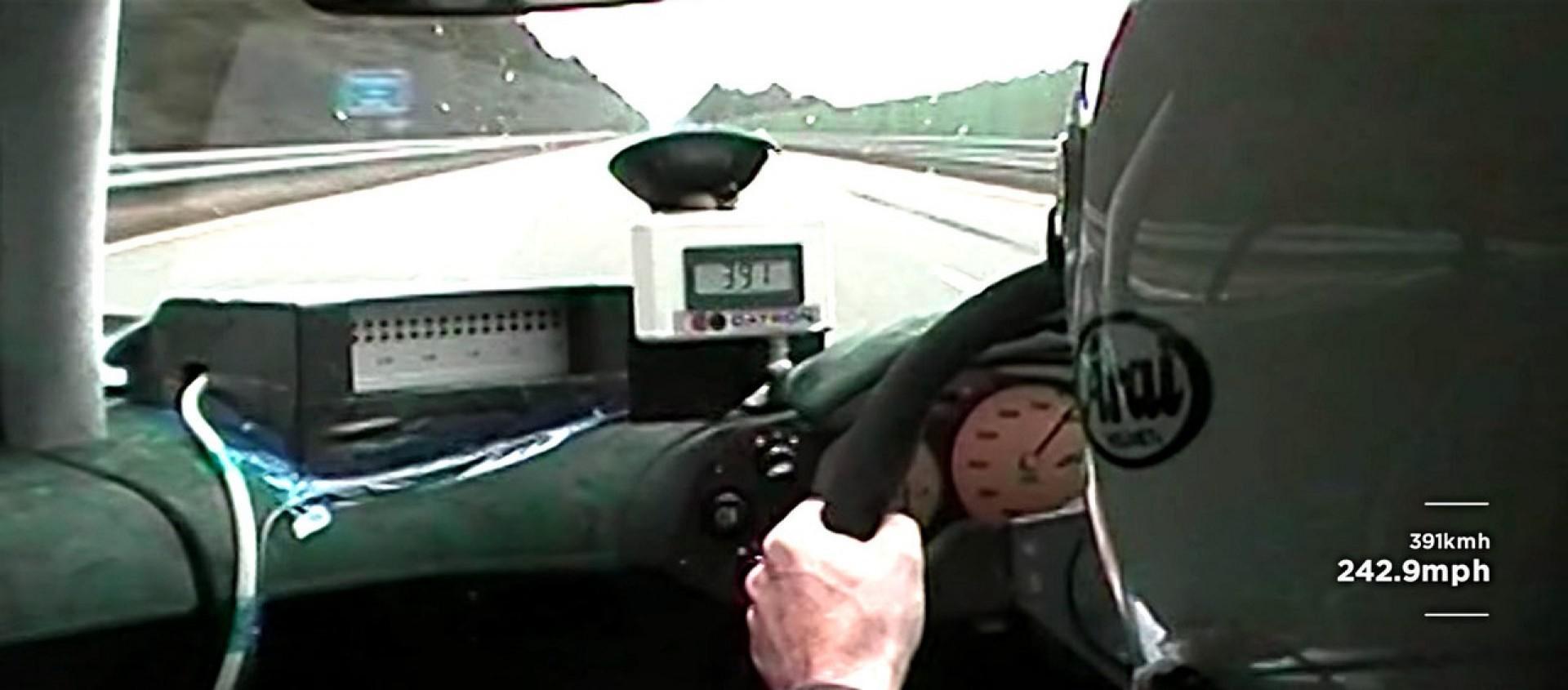 Record de vitesse : 386 km/h  en MClaren F1 !