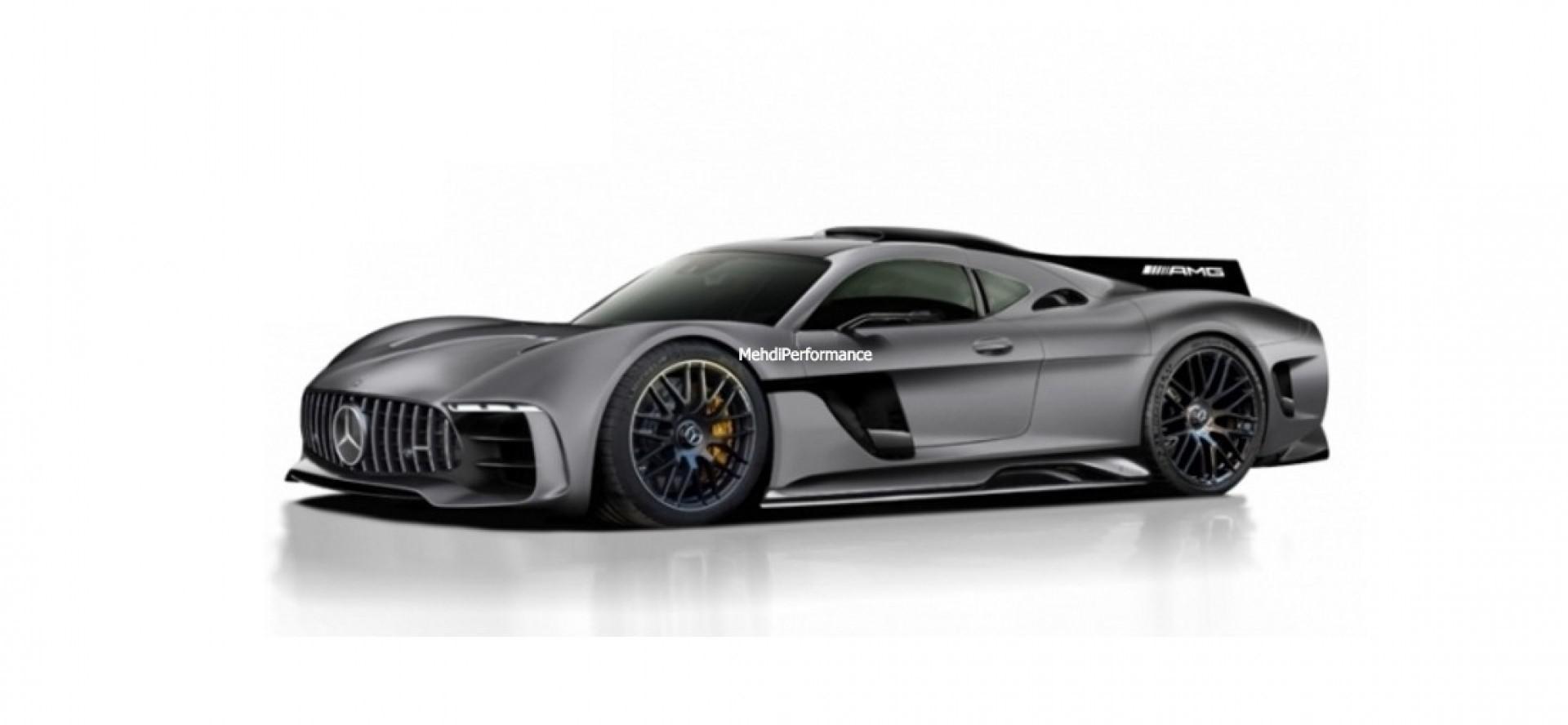 Le nouveau rendu de la Mercedes-AMG Project One ….