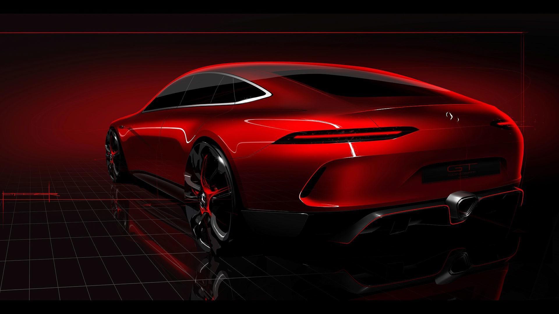 Mercedes-AMG dévoile le concept de son coupé 4 portes GT !
