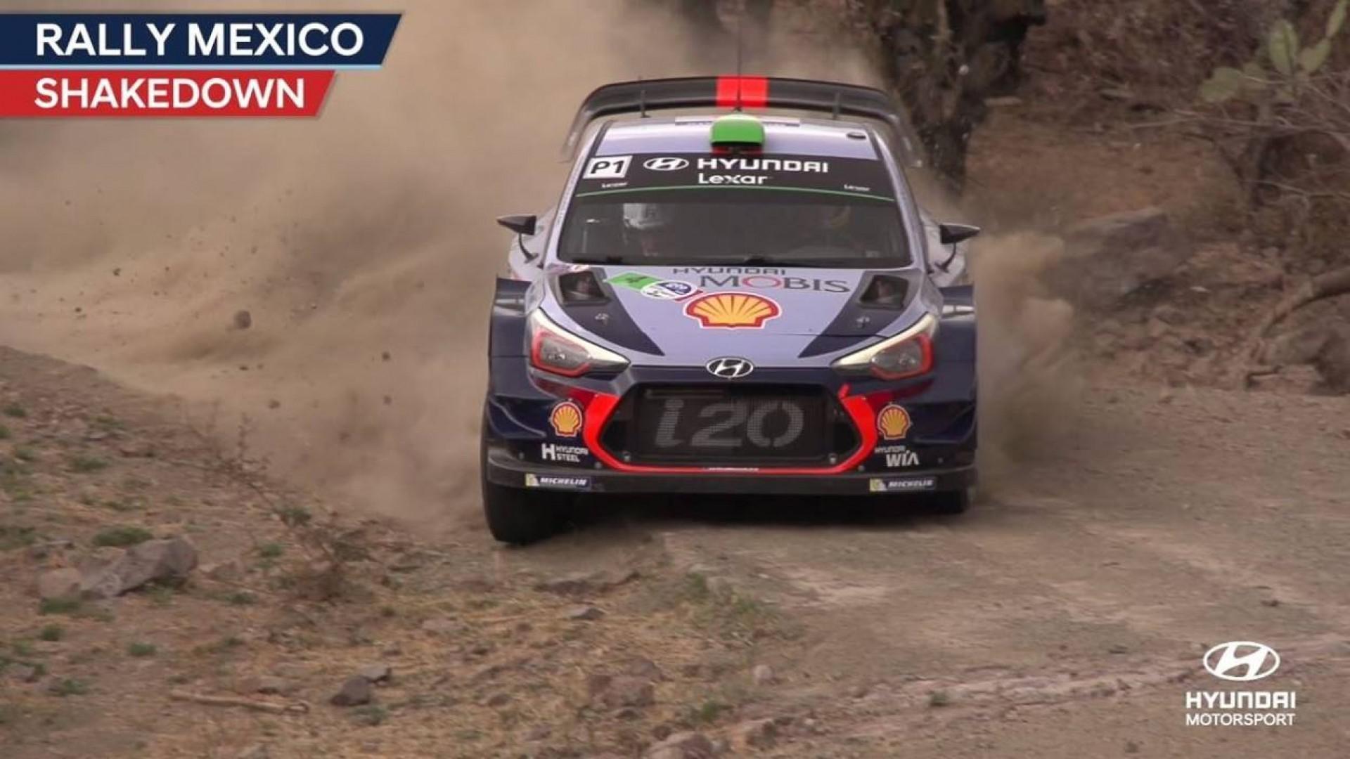 Rallye du Mexique : Neuville (Hyundai) en tête après le  Shakedown.