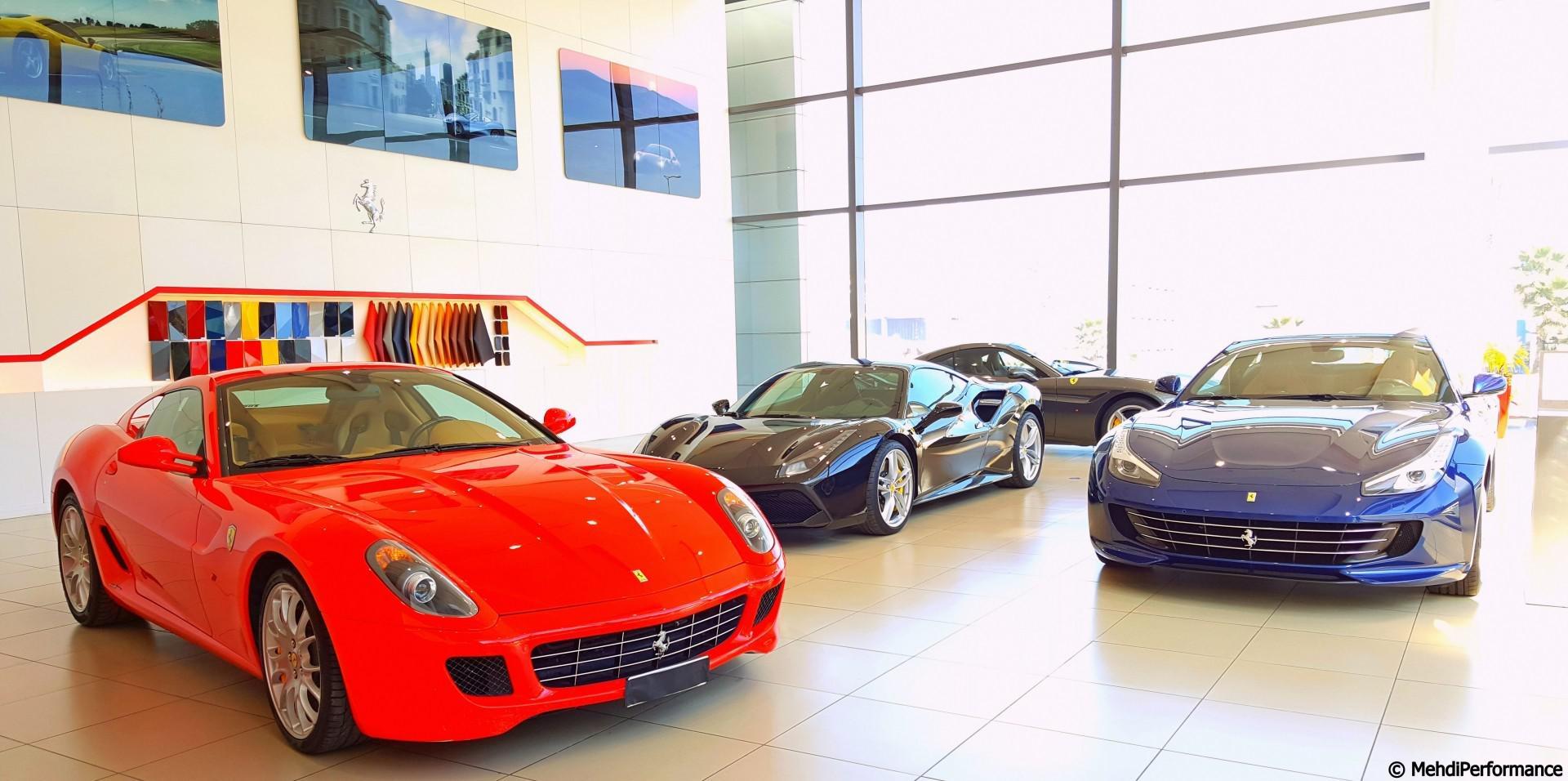Sportautomoto en visite chez le concessionnaire Ferrari Maroc !