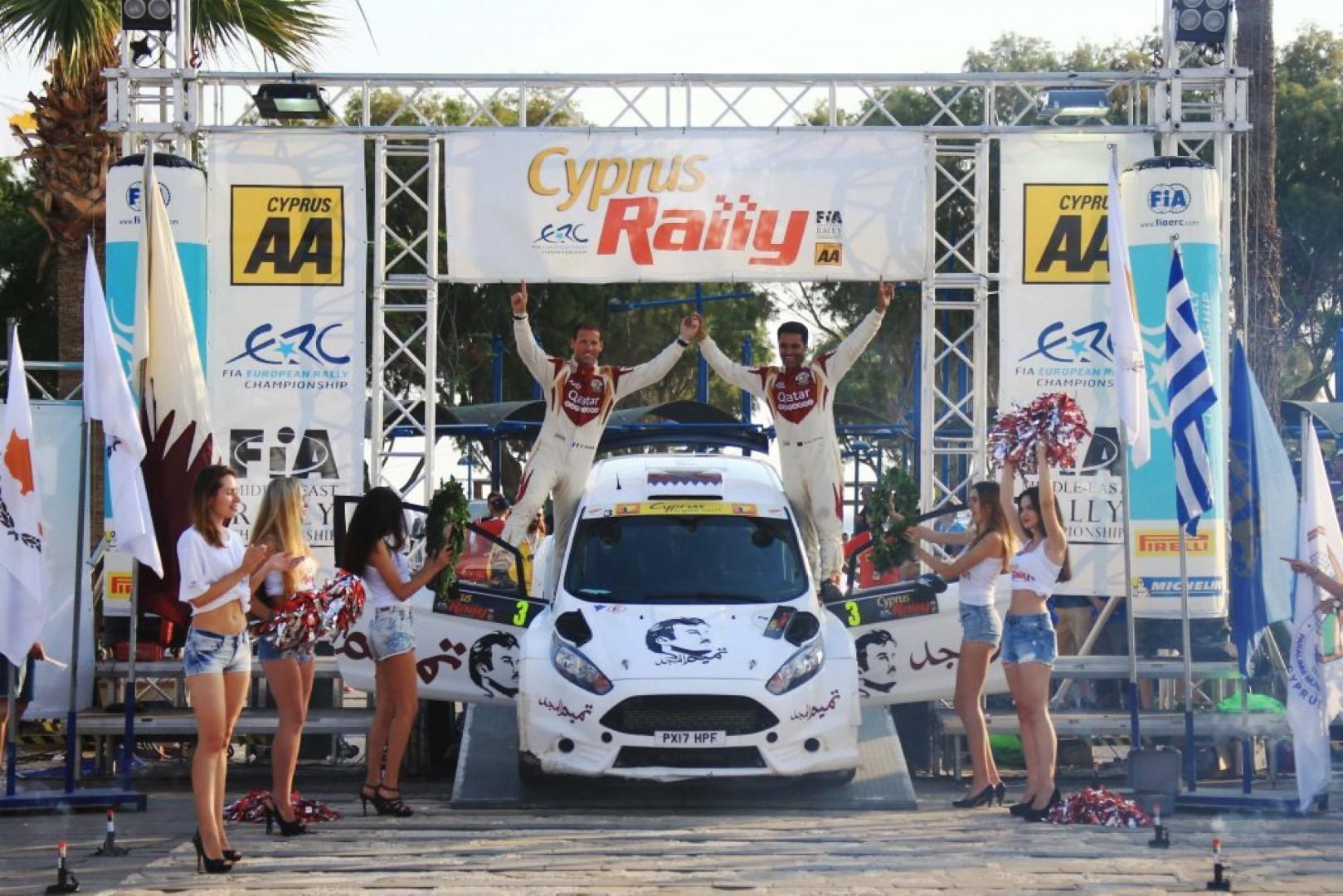 Nasser Al Attiyah  gagne le rallye de Chypre et 10'000€ pour avoir remporté la Love Cyprus Golden Stage