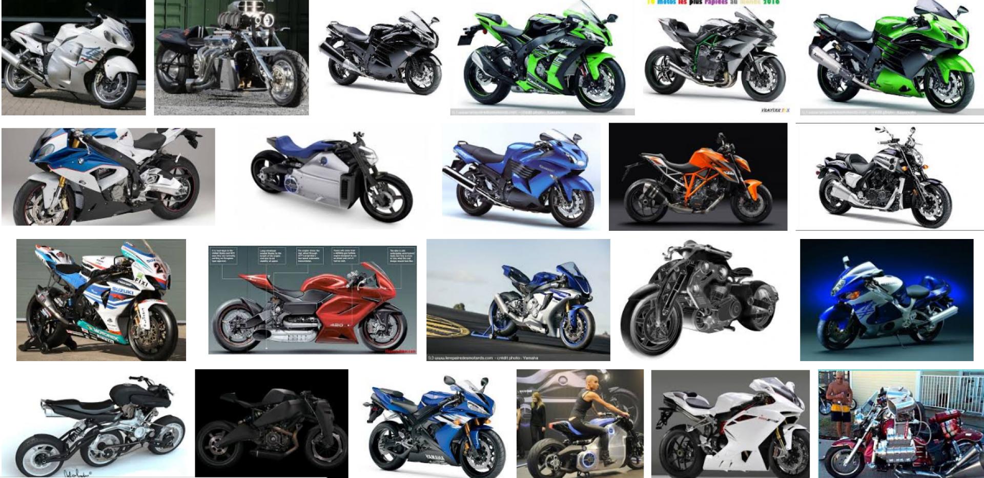 Connaissez vous les motos les plus puissantes ?