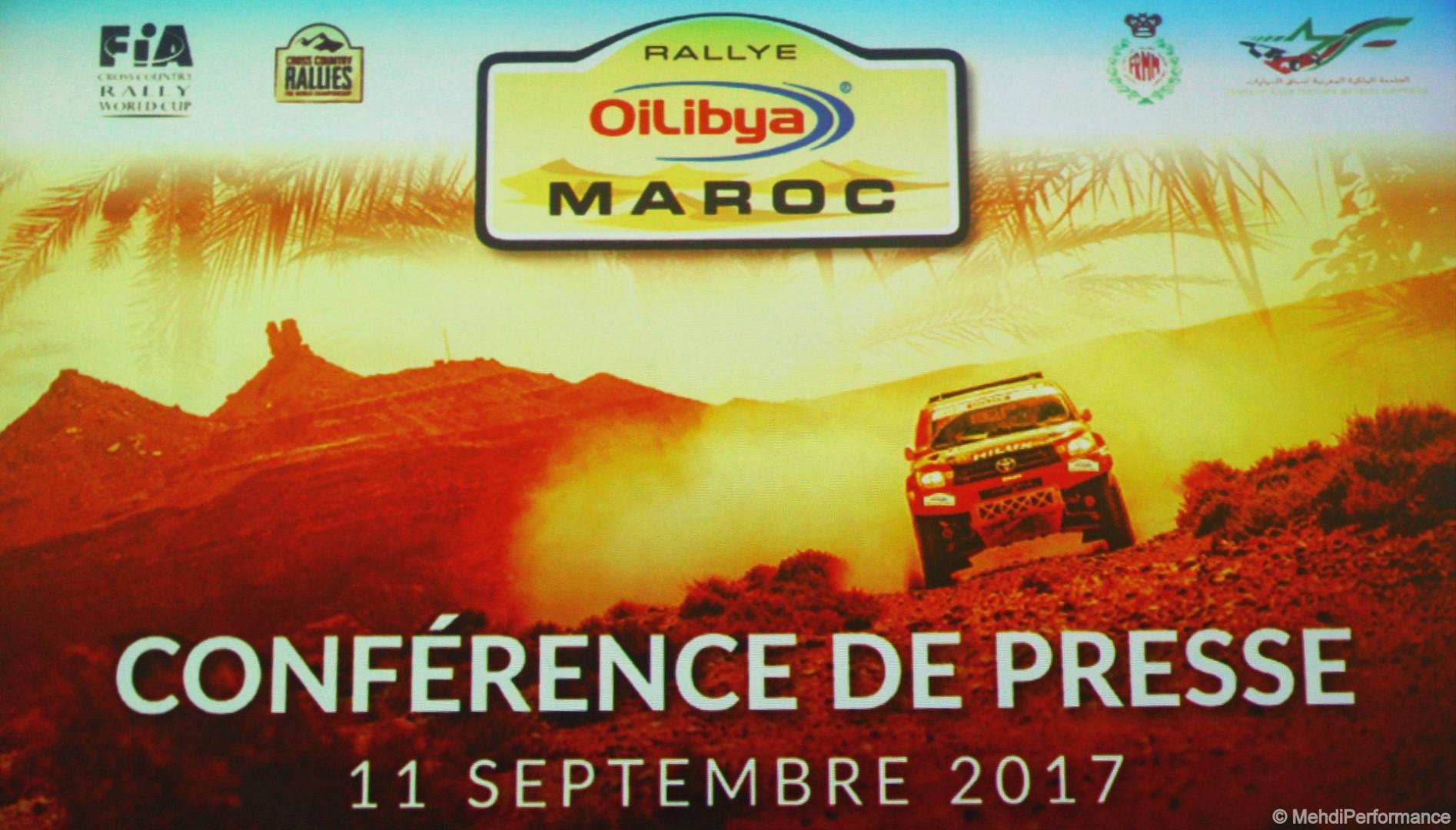 Rallye Oilibya Maroc 2017 conférence de presse à Casablanca