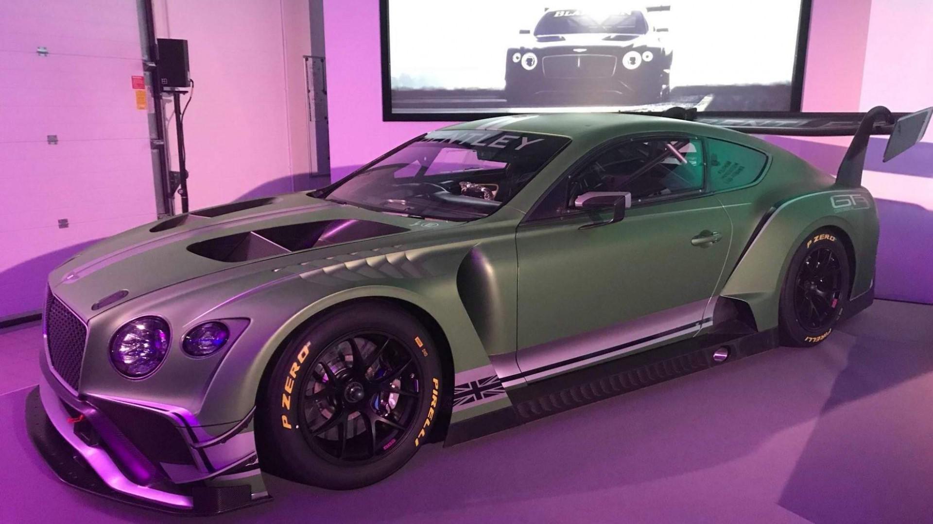 Bentley Continental GT3 avec une nouvelle livrée : Un vert du plus bel effet