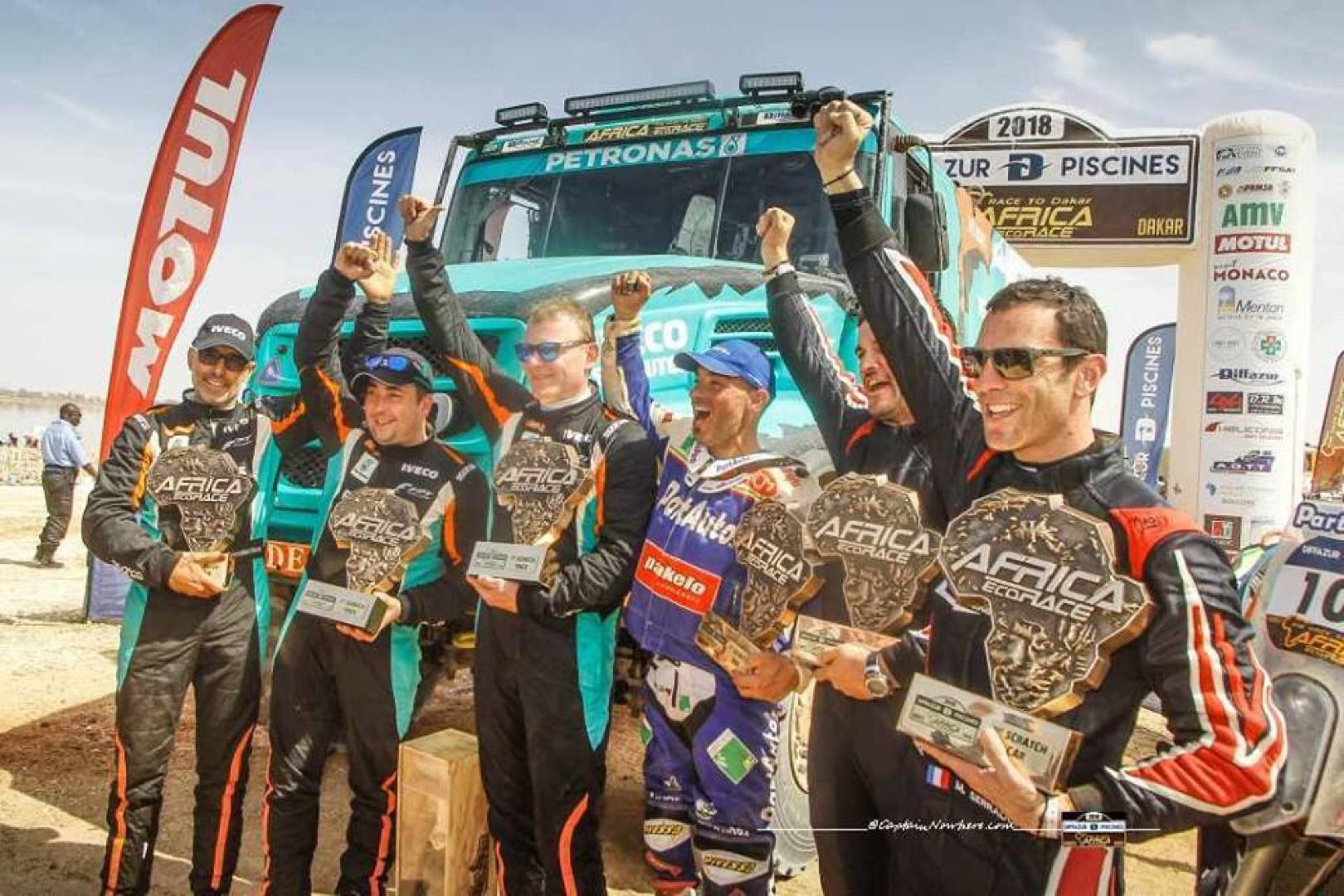 Africa Eco Race 2018 : LE LAC ROSE ACCUEILLE SES HEROS