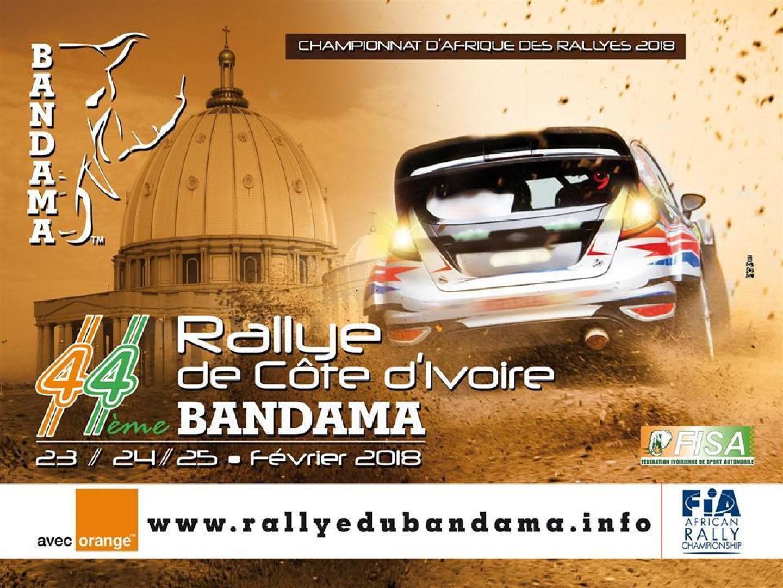 Rallye Cote d'Ivoire-Bandama: Programme de l'édition 2018