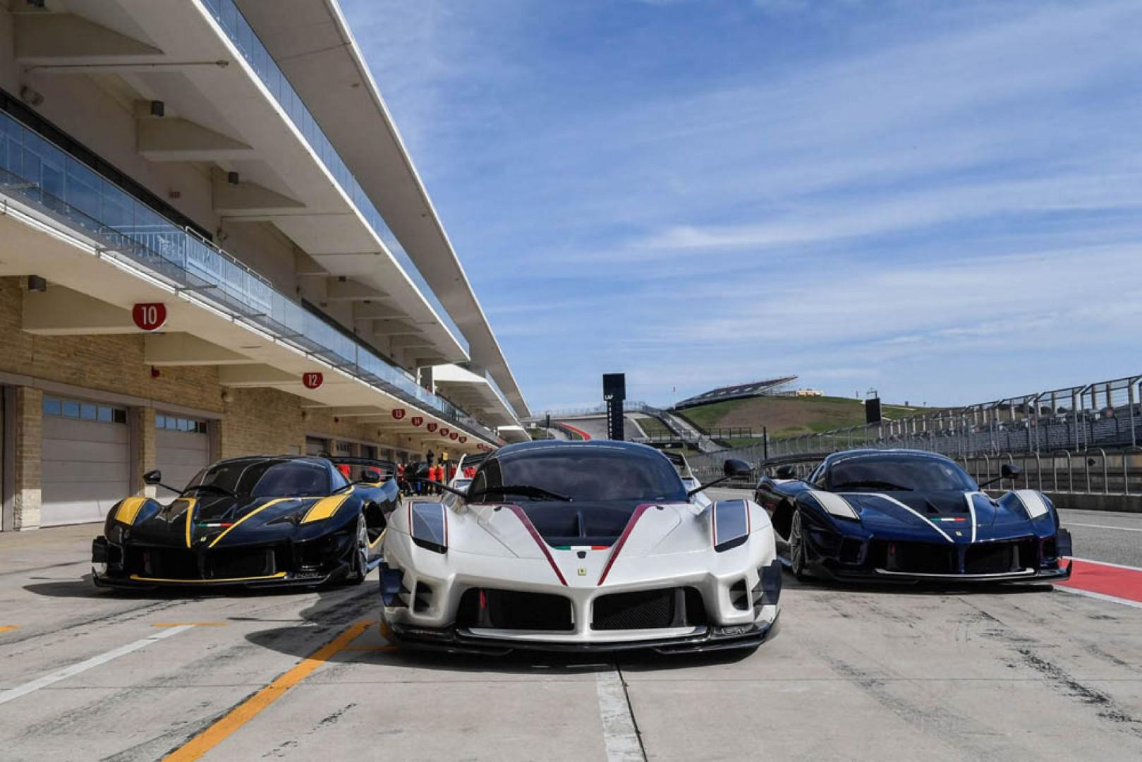 La Ferrari FXX K Evo sur le circuit italien du Mugello