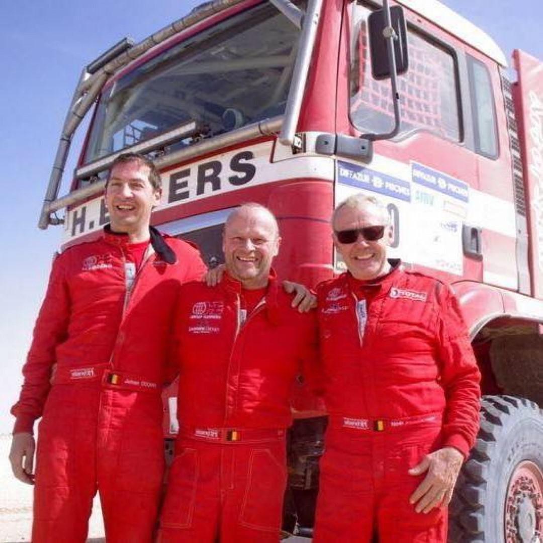Noël Essers, 75 ans : au départ du Morocco Desert Challenge 2018.