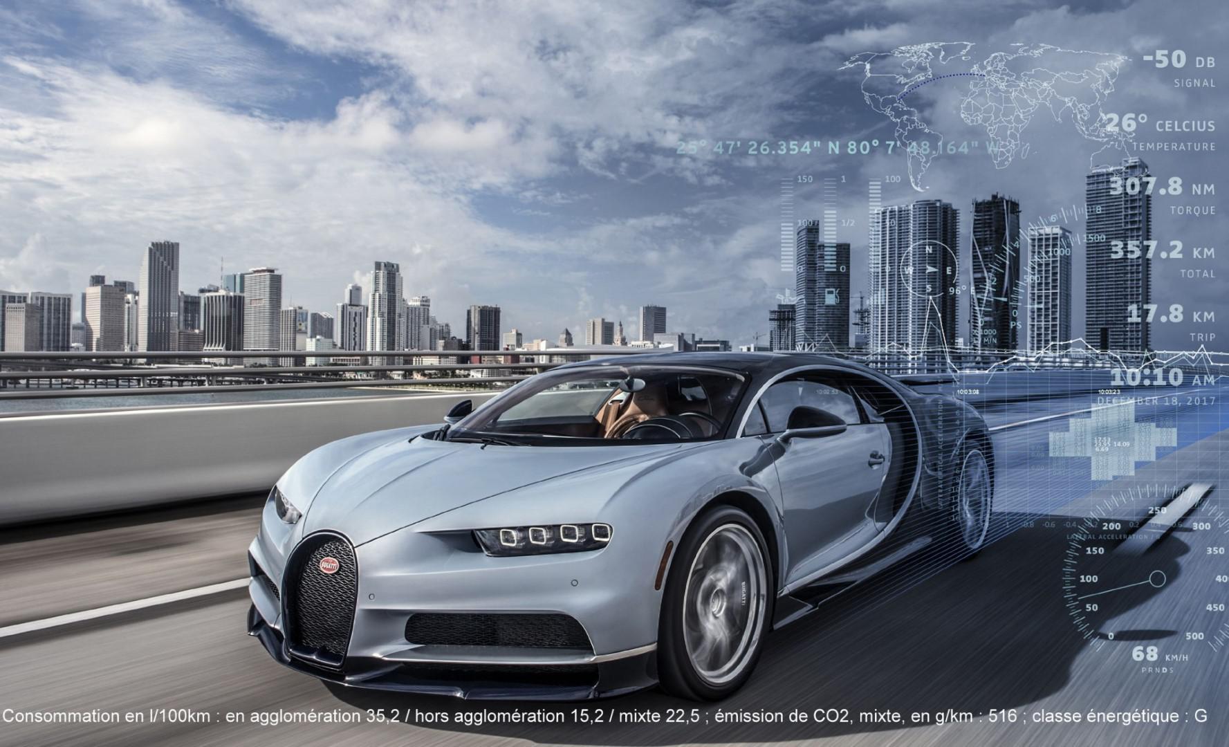Voiture connectée :Bugatti Chiron une assistance unique digne de la F1