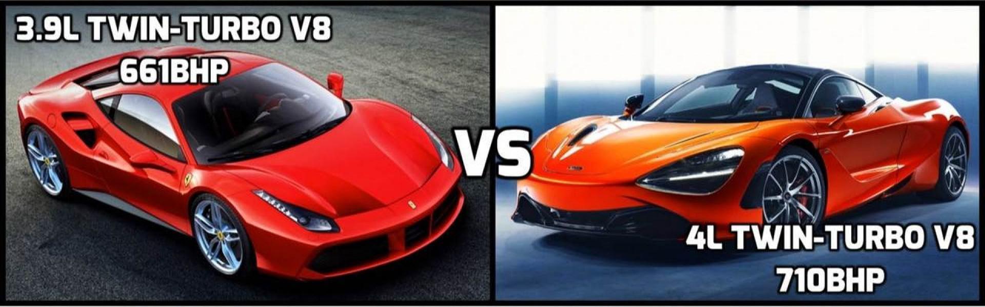 Vidéo: Les deux supercarsMcLaren 720Set laFerrari 488 GTBen drage race !