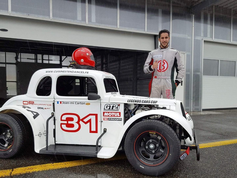 Othmane Benhayoun en Legend Car Cup
