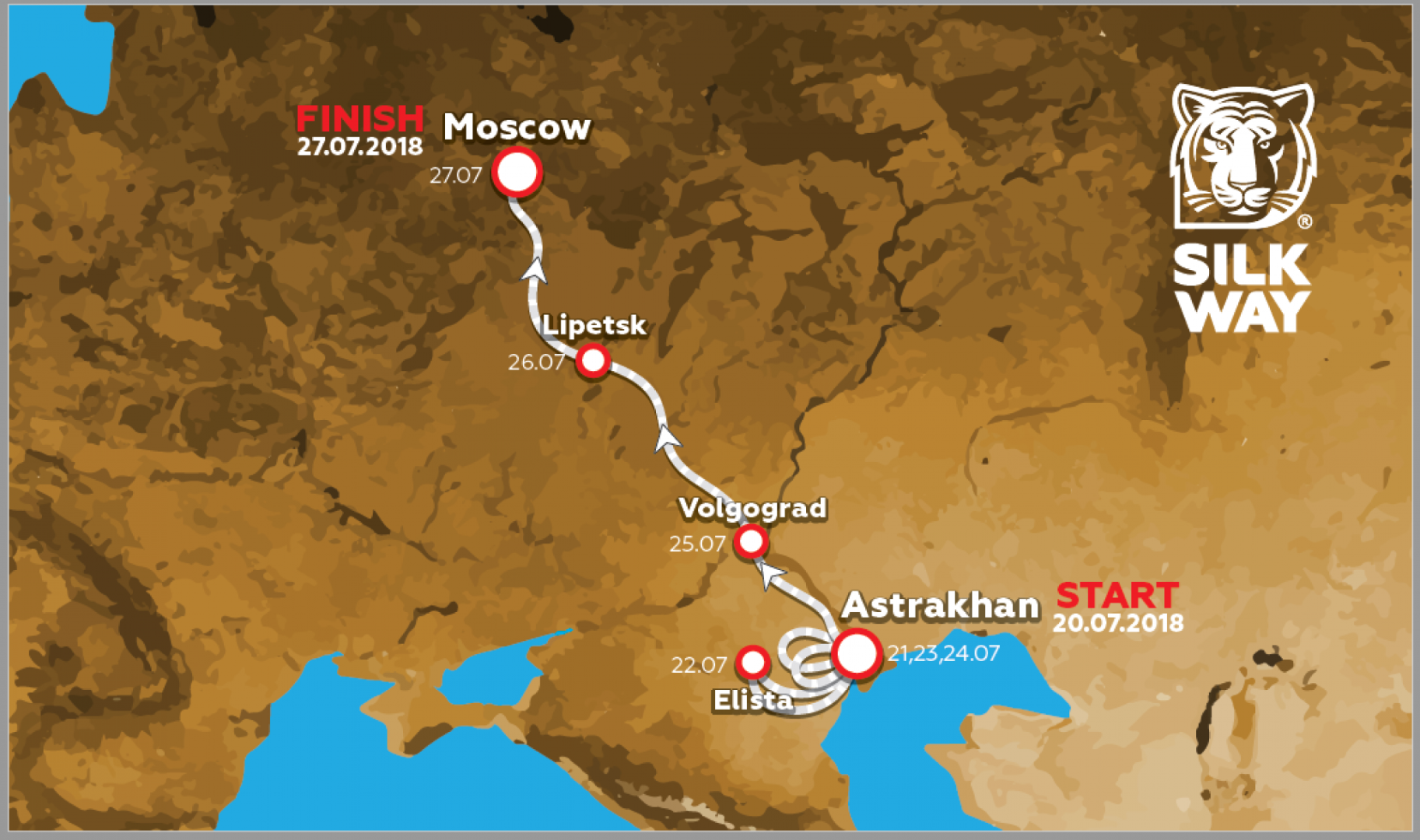 SILKWAYRALLY 2018: MODIFICATION DU PARCOURS
