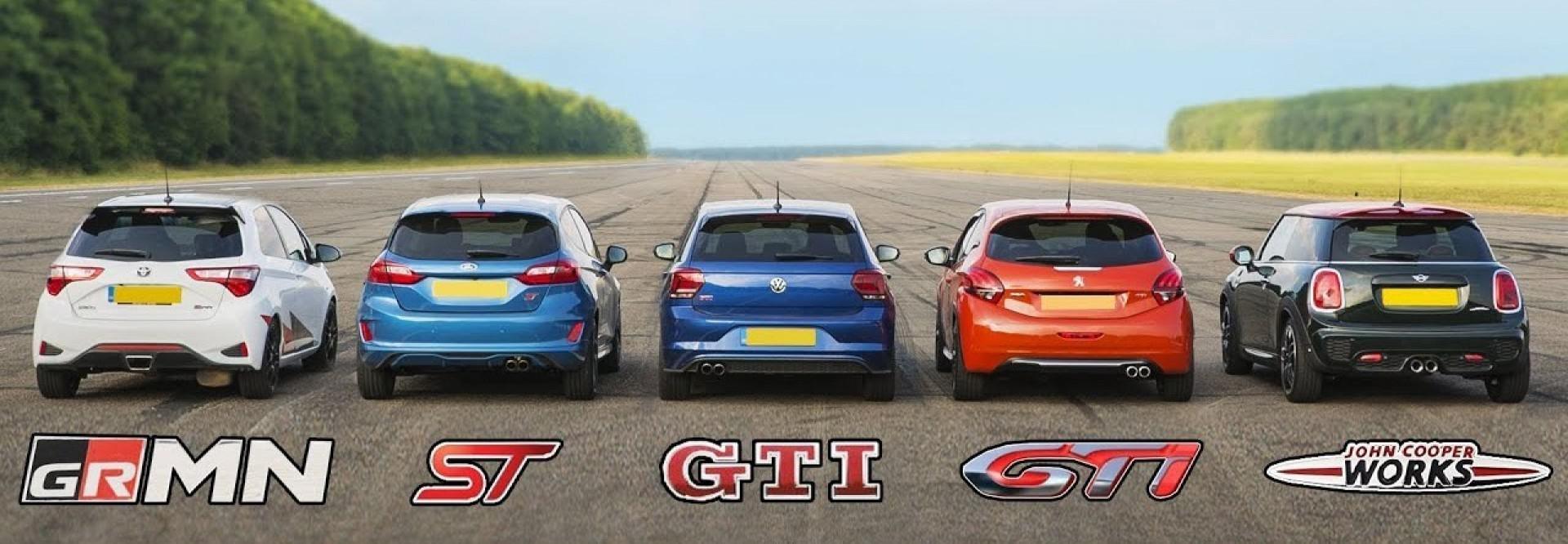 Quelle sportive se classera en première position ? Polo GTI vs Fiesta ST vs Mini JCW vs Yaris GRMN vs 208 GTi