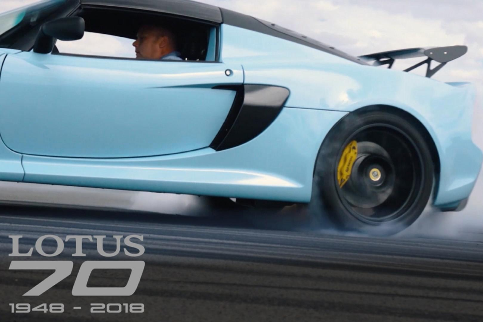 Une vidéo commémorative originale spectaculaire pour les 70 ans de Lotus !