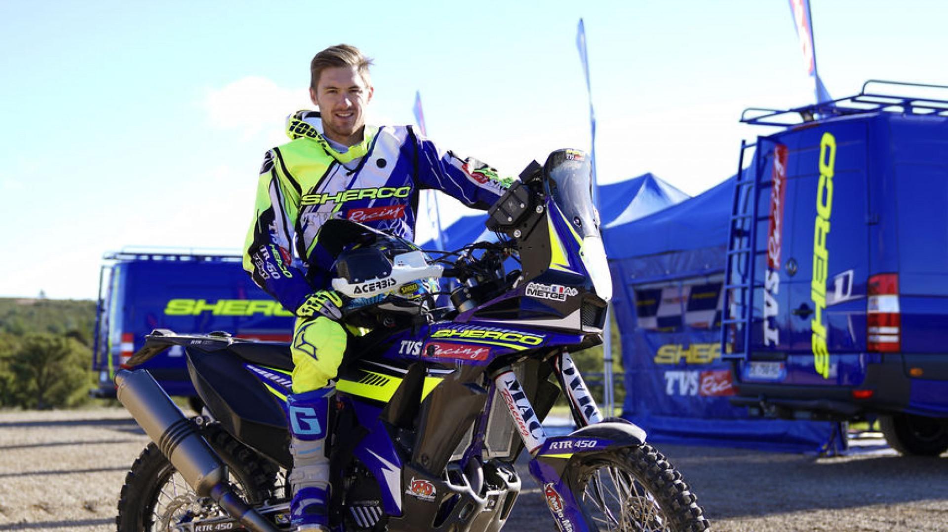 Adrien Metge et sa Sherco prêt pour le Dakar 2019.