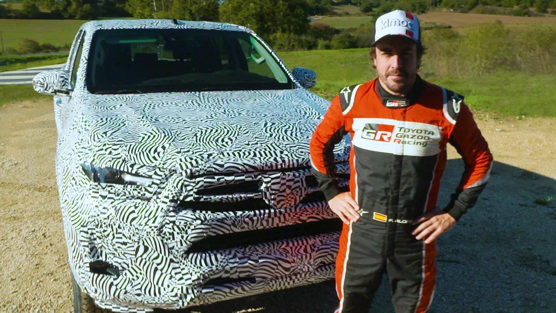 Fernando Alonso a essayé le Nouveau Toyota Hilux