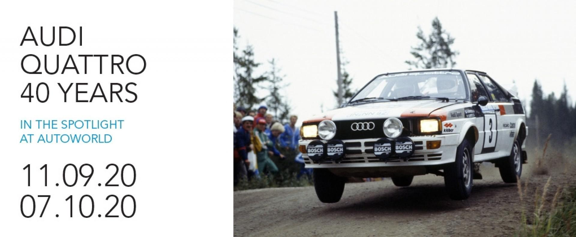 Autoworld Museum Brussels: Audi Quattro – 40 Years… in the Spotlight