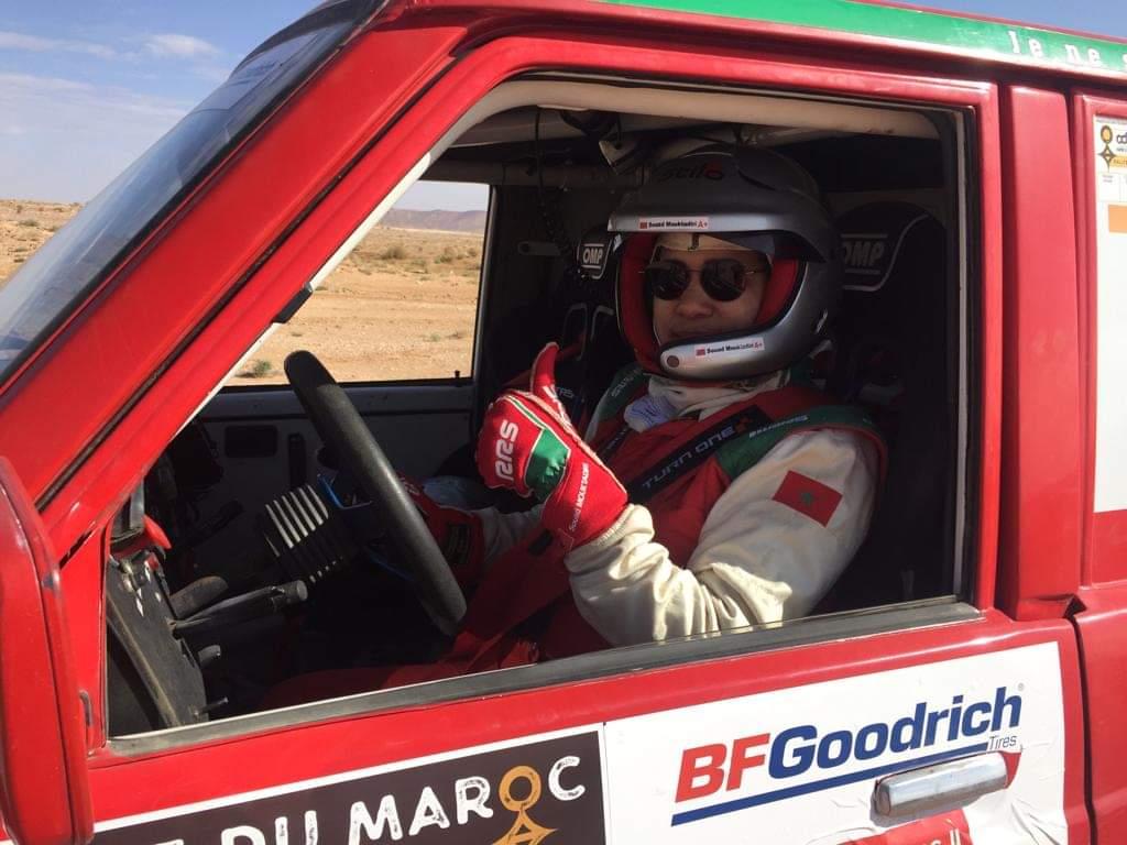 Souad Mouktadiri sur la ligne de départ de l'Andalucia Rally