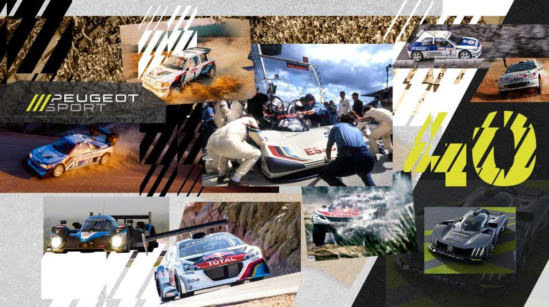 Peugeot Sport célèbre 40 ans d'innovation et de succès.